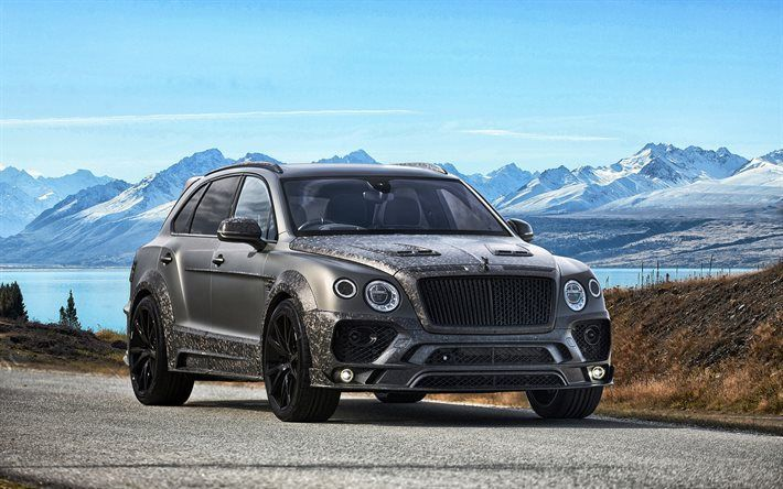 Download Wallpapers Bentley Bentayga 2017 Mansory Tuning