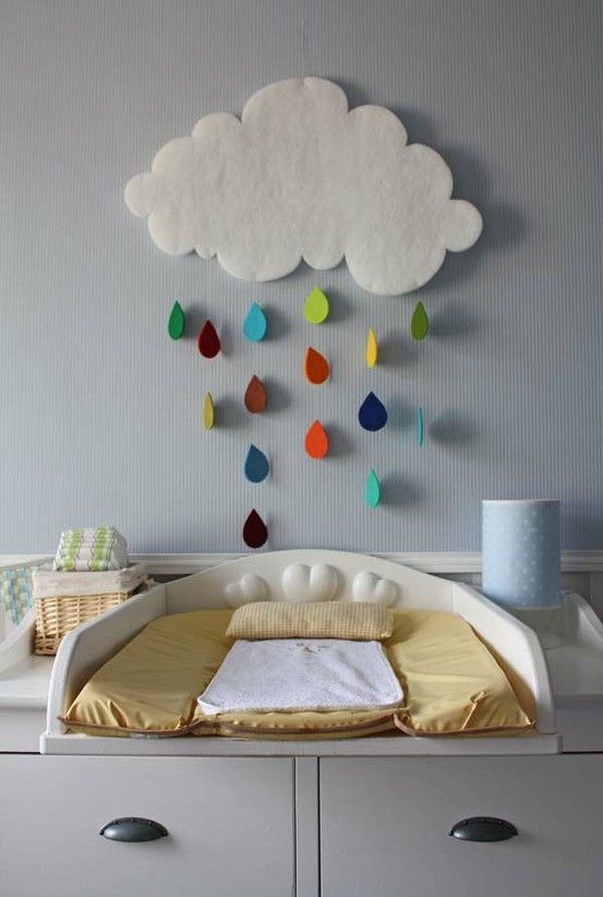 Cloud mobile Wanna make this with my daughter for her babybrother! So simpel and cute!