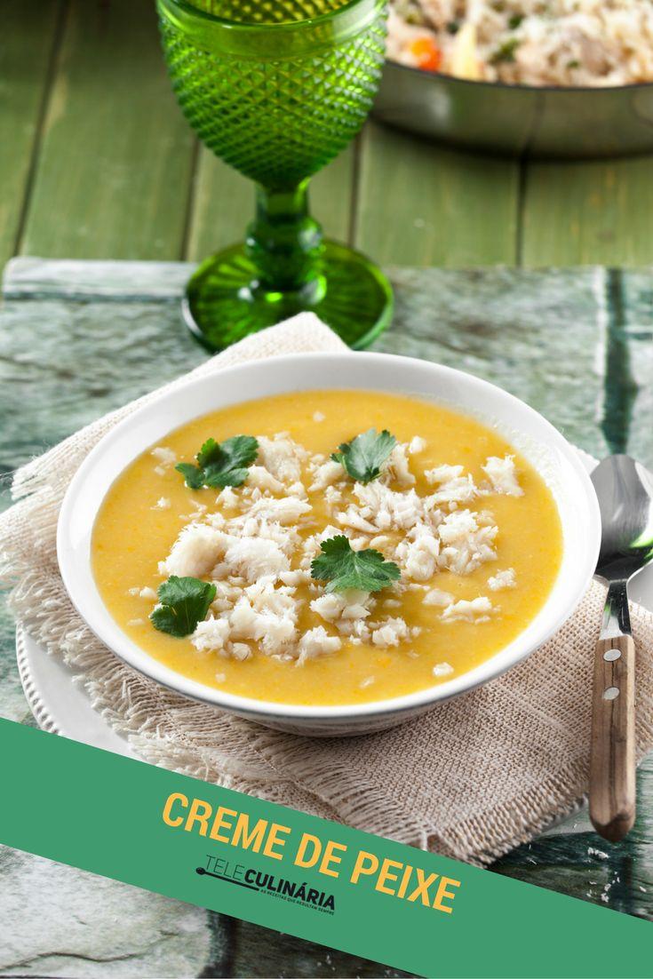 Gosta de sopas? Esta é maravilhosa! Experimente o nosso creme de peixe ♥ Veja como se prepara aqui: http://www.teleculinaria.pt/receitas/creme-de-peixe/  #teleculinaria #teleculinária #receitas #peixe #sopas #comida #creme #ideiasparajantar #jantar #almoço #recipes #soup #fish #delicious #food #foodpics