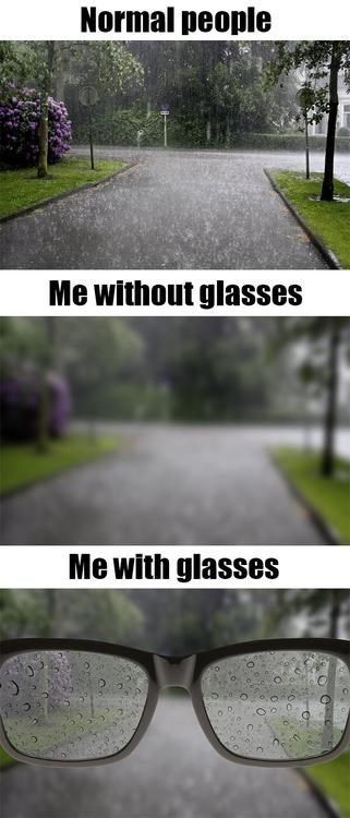 Problems All People With Glasses Can Relate To......