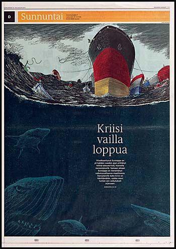 #Broadsheet kuolahti.   Kuvitus: Lasse Rantanen | HS 18.12.2011
