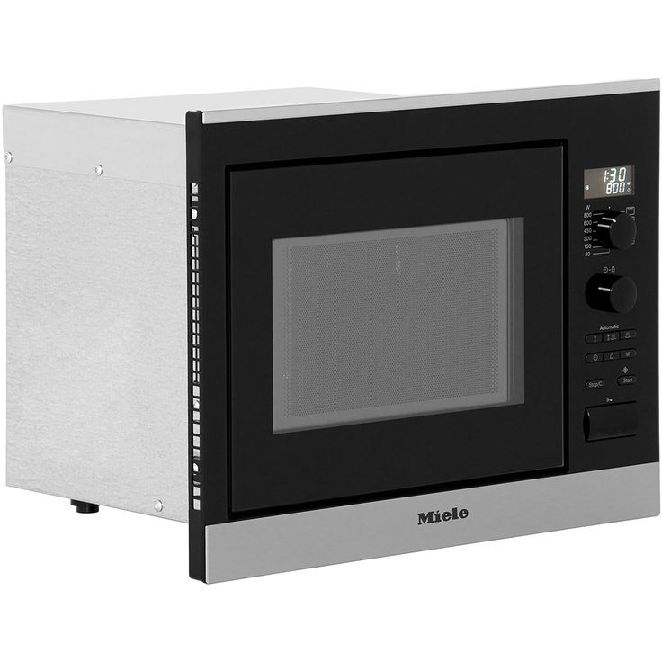 Miele Contourline M6022sc Built In Compact Microwave With Grill Clean Steel