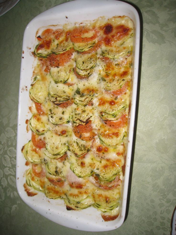 gratin courgettes mozzarella tomates