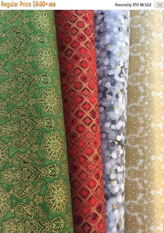 Check out these stunning metallic fabrics from Robert Kaufman at www.CurlyGirlFabric.com #metallicfabric