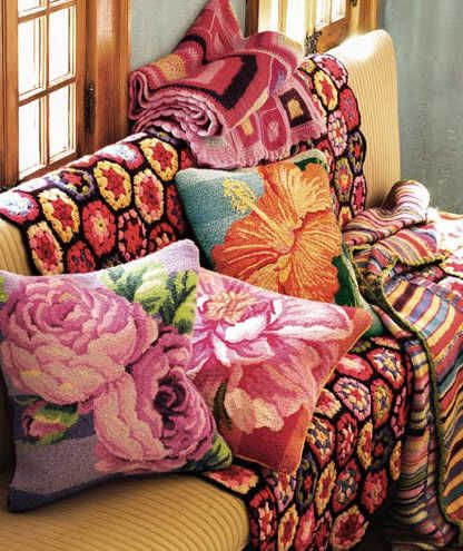 afghans and pillows by ketutar, via Flickr