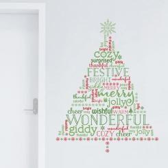 Christmas Tree Scritte Wall Sticker Adesivo da Muro