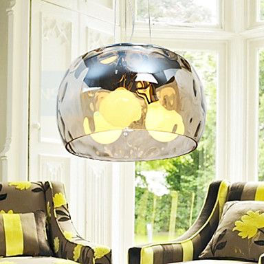 Italian Style Modern  3 Light Pendant With Transparent Shade – GBP £ 96.59