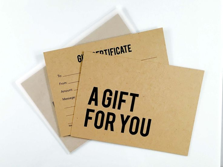 9 best Our Gift Certificates images on Pinterest | Envelopes, Gift ...