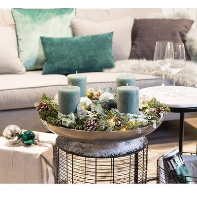schale d 45cm silber basteln ideen ostern advent und. Black Bedroom Furniture Sets. Home Design Ideas