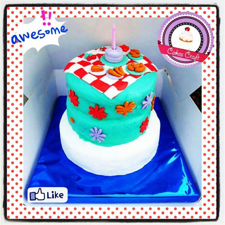 Picnic Cake! / CID - 574 #barranquilla #cakestagram #uniautonoma #uniatlantico #uninorte #unilibre #unimetro  #hbd #cumpleaños #CakescraftKeados #cakeboss #cupcakewar #cakescraftbq #airsoft #halamadrid #jamesrodriguez10 #collagecostacaribe #enchufetv #fuerzamexico #canalcaracol #barranquillaestuciudad  #septiembre #aotronivel #martesdechampeta #martes #falcao #tuesday #picnic #parquemuvdivive #diadecampo