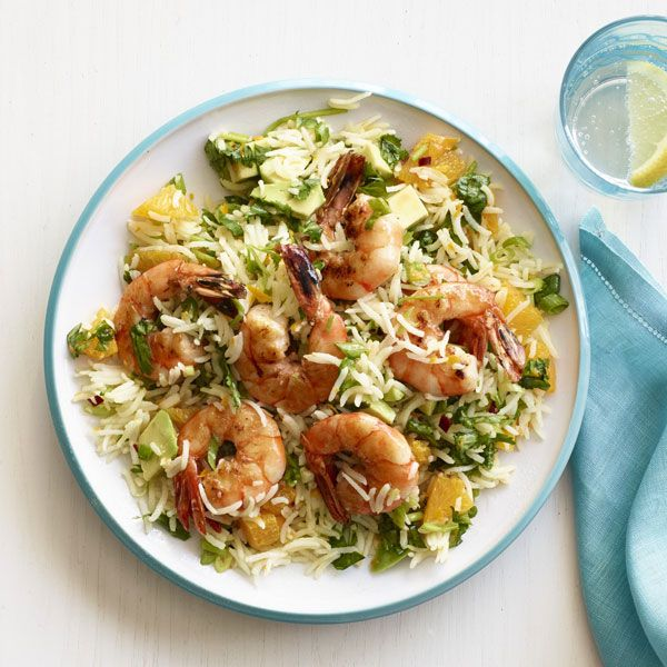 Old Grain, New Tricks: 10 Flavorful Rice Salads - ZESTY SHRIMP WITH CHIMICHURRI RICE