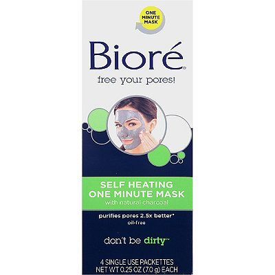 Bioré Self Heating One Minute Mask. Great to use one a week to deep clean my pores. Makes my skin so soft!