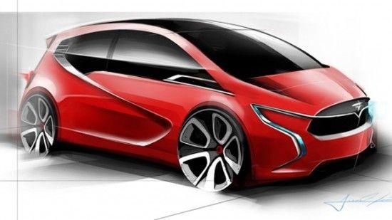Tesla Model C Electric Car concept - Drawn by a Tesla intern $29,990 http://insideevs.com/unofficial-tesla-model-c-sketches-leak-out-drawn-by-a-tesla-intern/
