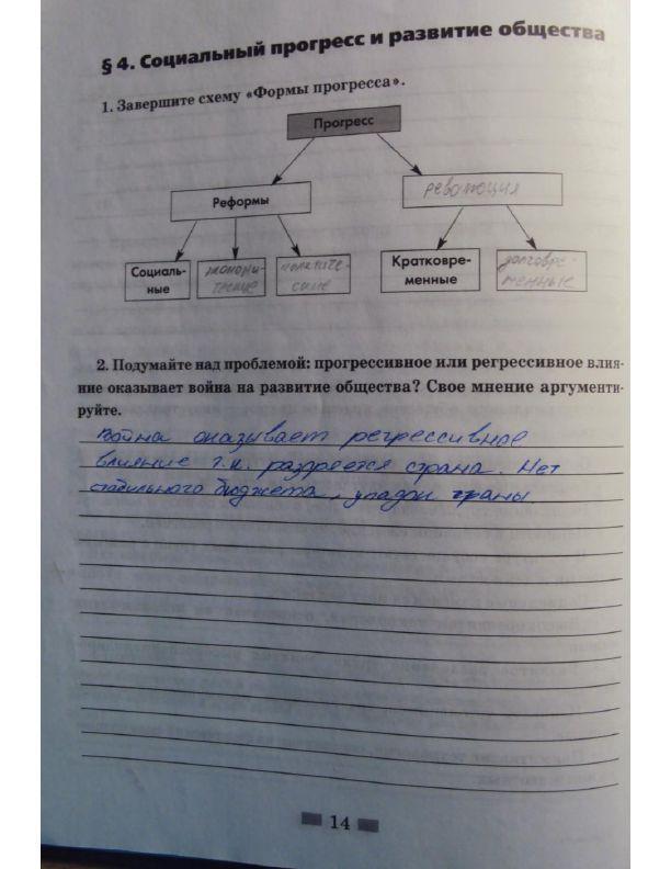 Гдз на рабочую тетрадь по обществознанию за 8 класс а.и.кравченко