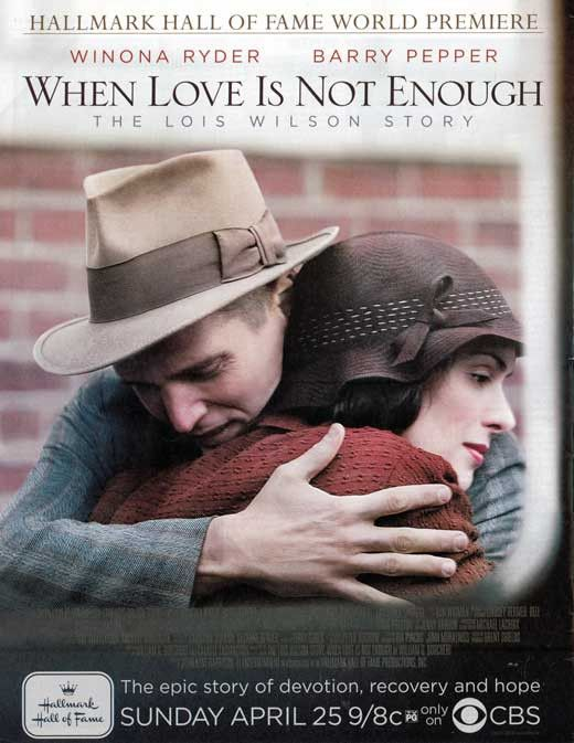 When Love Is Not Enough: The Lois Wilson Story 11x17 Movie Poster (2010)