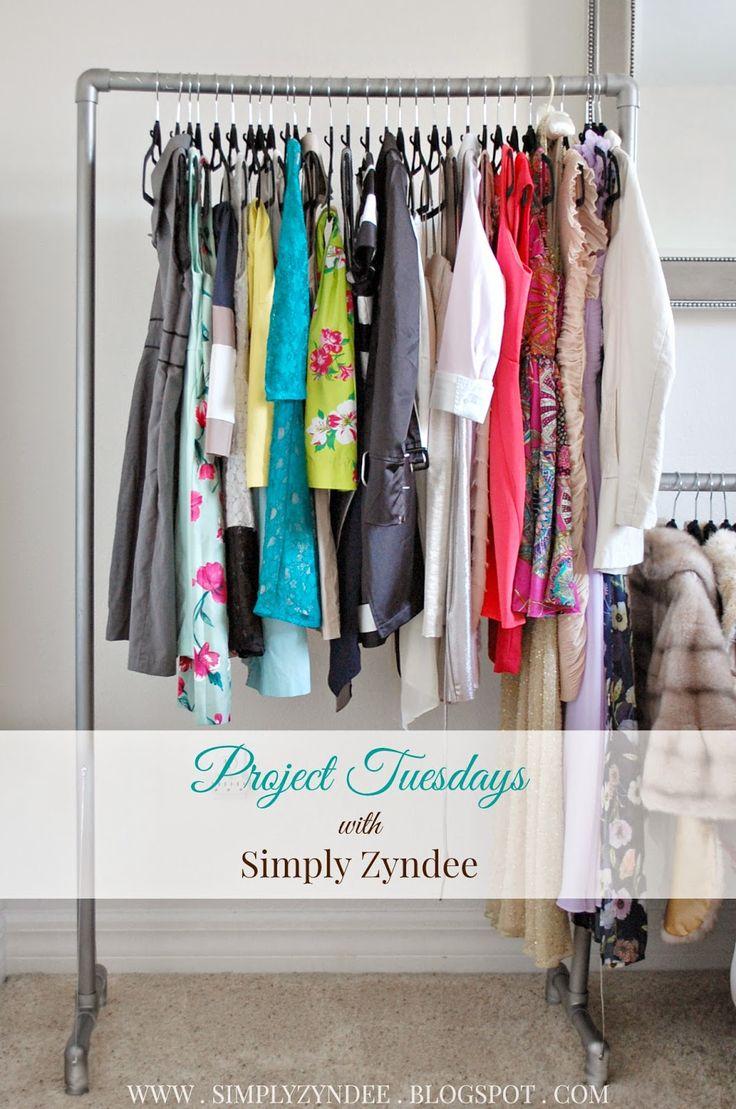 Diy Pvc Pipes Clothes Rack Www Simplyzyndee Com Diy