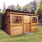 cedar shed 9 x 6 ft beach house garden