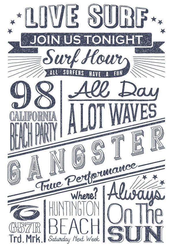 T-shirt prints with typograph on Behance