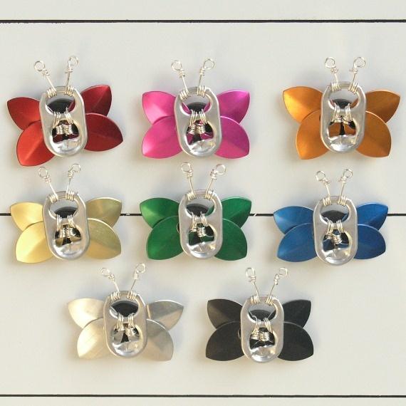 pop tab butterfly fridge magnets