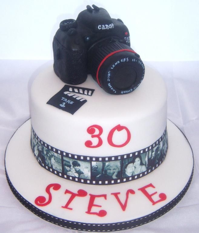 Brother-in-laws Birthday Camera Cake