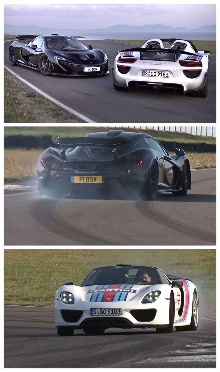 McLaren P1 V Porsche 918 Spyder BATTLE. Click For Awesomeness! #video