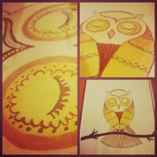 My watercolour owl