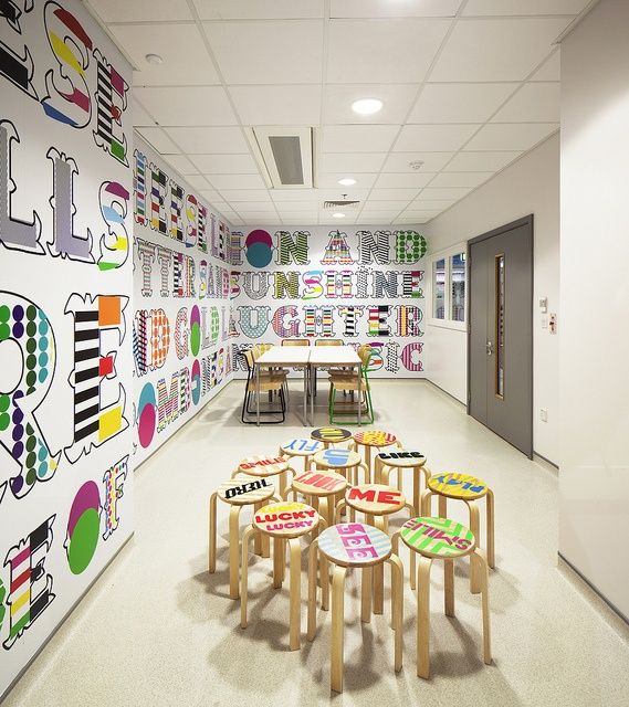 Morag Myerscough's designs for the new Royal London Children's Hospital by Barts Health NHS Trust, via Flickr