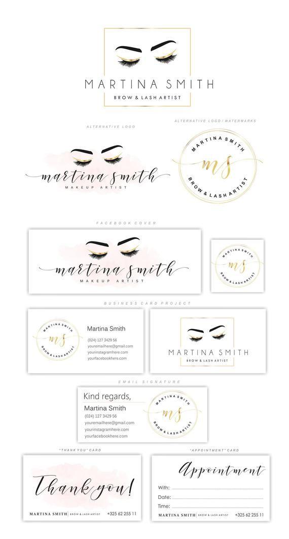 Lash & Brow Artist logo, Eyelash logo, Lash logo, Brow logo