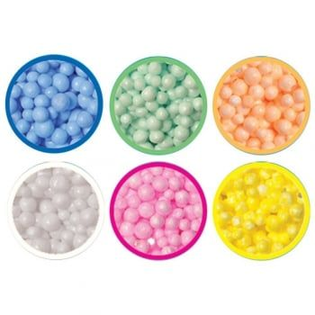 Offering a great tactile experience these colourful malleable beads can be squashed and squeezed into any shape and will provide hours of creative fun without mess. Playfoam won't dry, crumble or stick to skin or surfaces and can be reused again and again.
