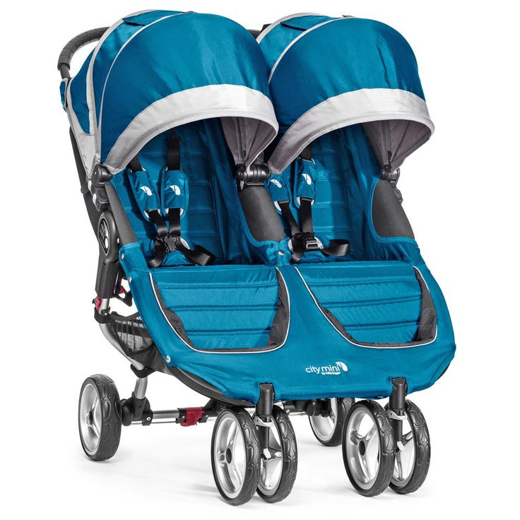 Baby Jogger 2016 City Mini Double Stroller Teal/Grey