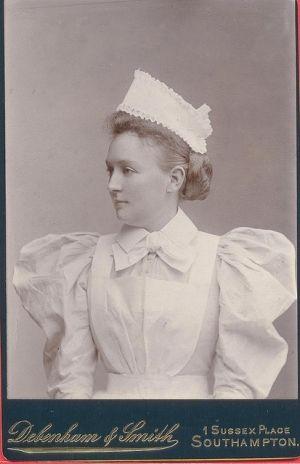 Southampton Nurse; Delightfully flouncy uniform circa late 1890's by lynette