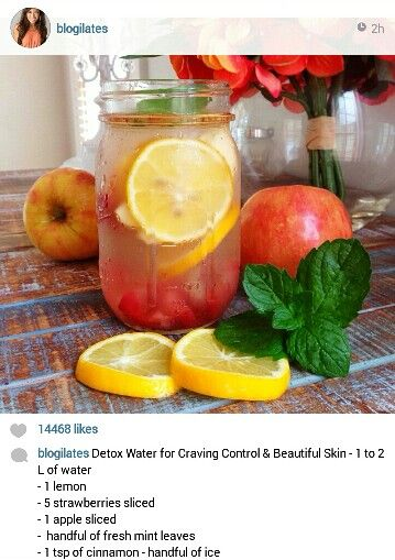 Blogilates - Detox water for craving control and beautiful skin