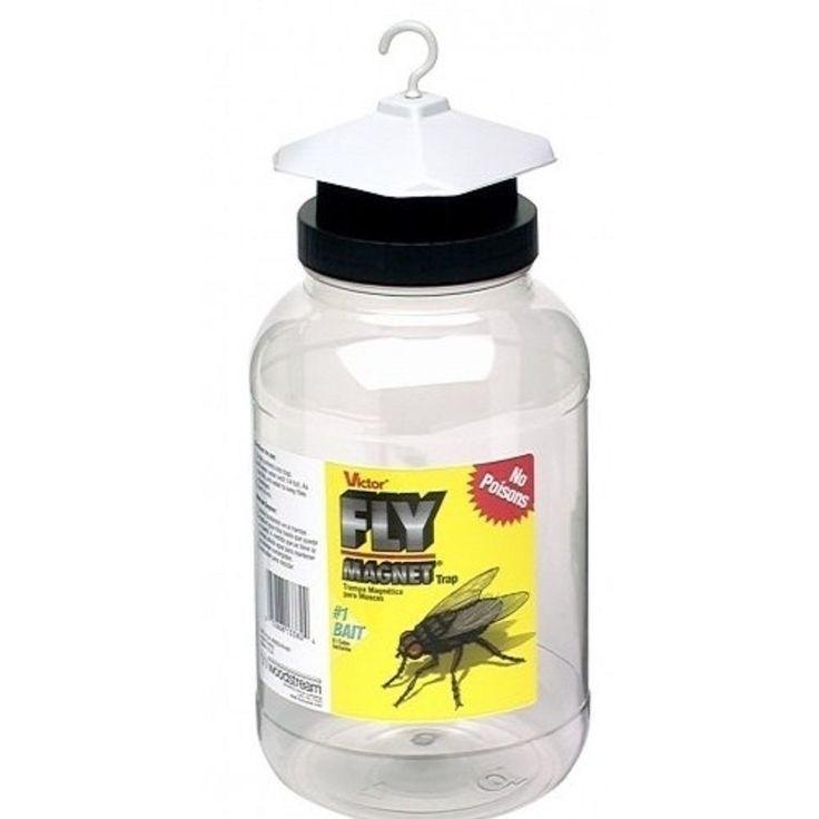 1 Gallon Hanging Bait Fly Magnet Trap No Poisons Safe Children Pets Reusable  #Victor
