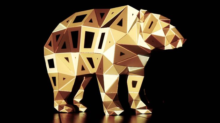 Projection Mapping 3D Sculpture Bear