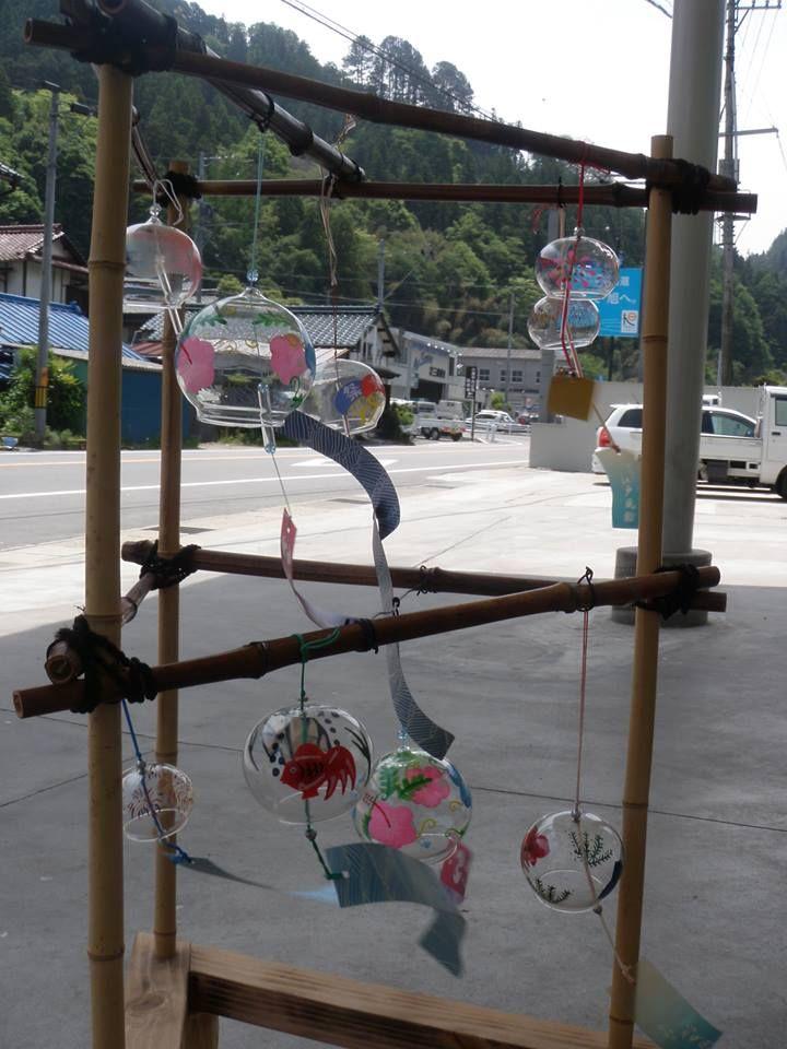 写真: 5月21日あさひ観光案内所の風鈴の様子です。旭観光協会のホームページにも今年の風鈴まつりのお知らせを載せたのぜひご覧ください。 http://www.kankou-asahi.toyota.aichi.jp/