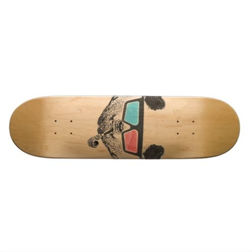 Vintage panda 3-D glasses Skate Boards #skateboard #vintage #panda