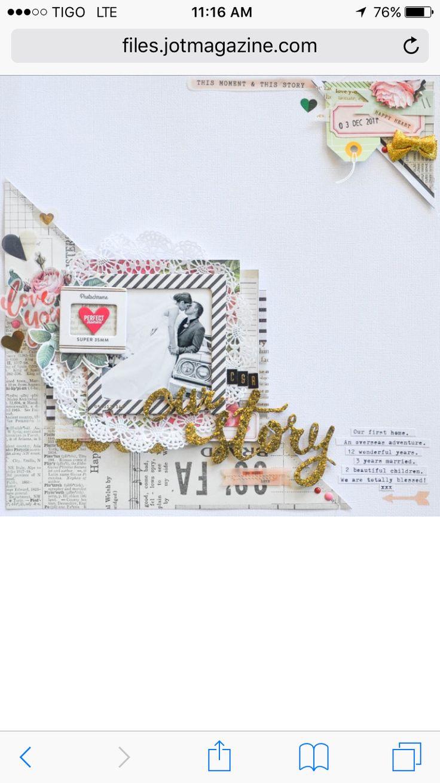 #papercrafting #scrapbooking #layouts - Raquel Bowman