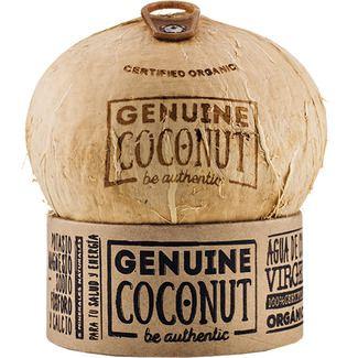 GENUINE COCONUT agua de coco 100% orgánico envase 400 cl