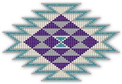 Native Style Purple Sunburst