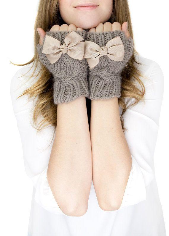 mittens fingerless knit gloves