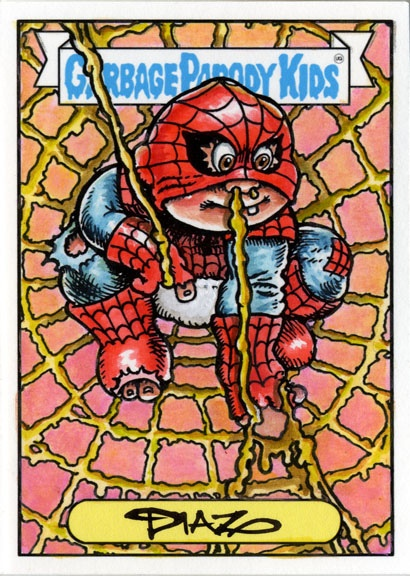 This is a limited edition fully colored hand-colored watercolor sketch card done by Luis Diaz (All-New Garbage Pail Kids artist)  Each card is individual and you will get the one pictured.  This is the color sample card only 1 produced for each set and is used as a guide for ...
