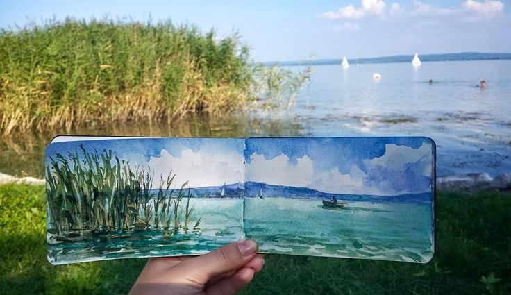 Foldable Landscapes by Lili Schuch at The Watercolor Blog: www.facebook.com/…