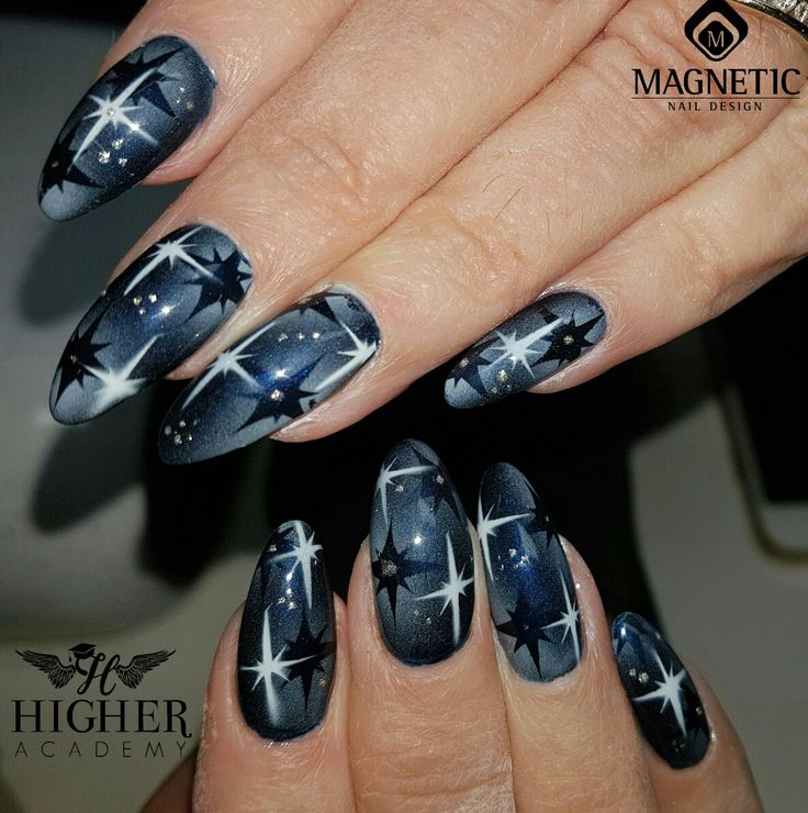 Ballroom Black Gel polish over Prestige Acrylic Opaque Pink  Airnails airbrush design using Christmas Maskings and White Airnails Paint  True Silver One Coat Colour Gel  Soak Off Top Gel   Created using Magnetic Nails Products. Product and nail course information: info@higheracademy.co.uk www.higheracademy.co.uk   #MagneticNails #nails #NailSwag