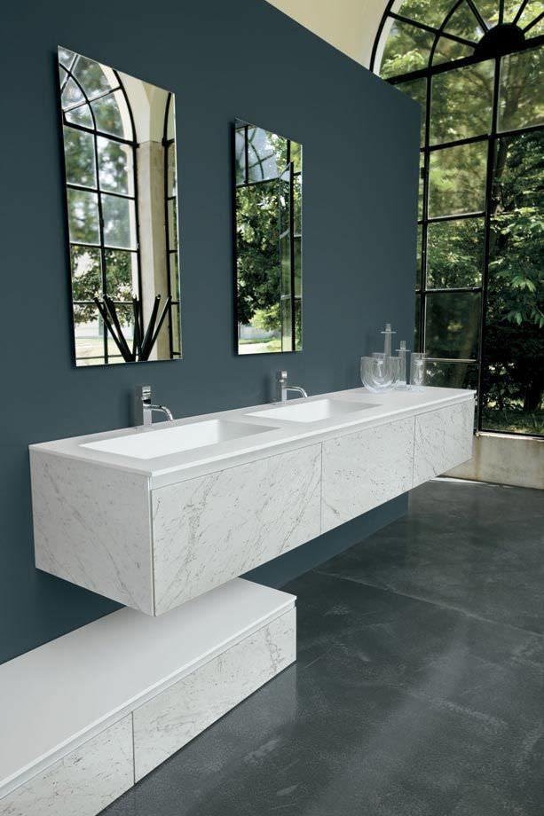 Double washbasin cabinet / contemporary / oak / wall-hung 360GRADI by Gian Luca Perissinotto ALTAMAREA