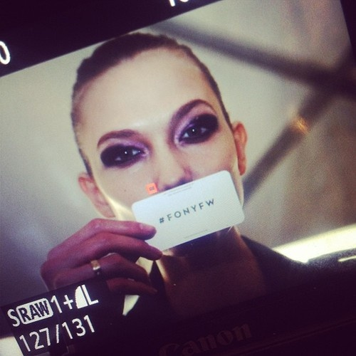 Karlie Kloss. Faces of New York Fashion Week