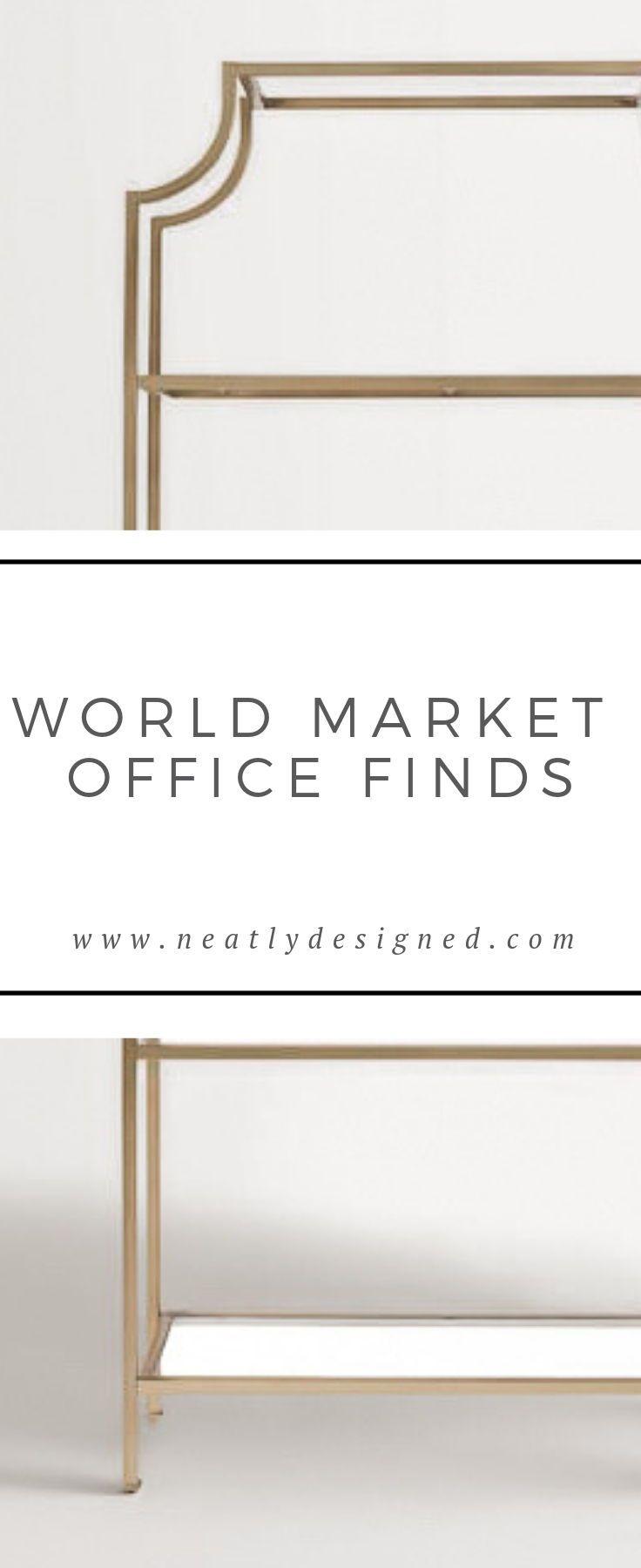 World market office finds neatly designed organizer organizing