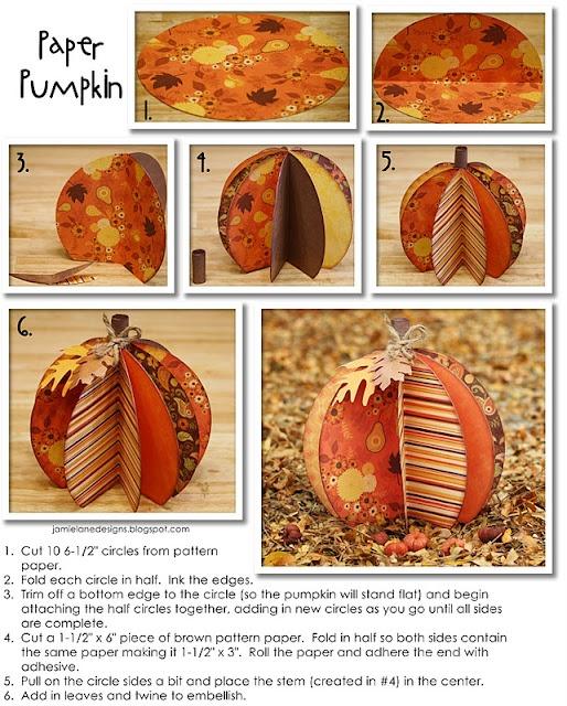 Bits of Paper: 3D Paper Pumpkins