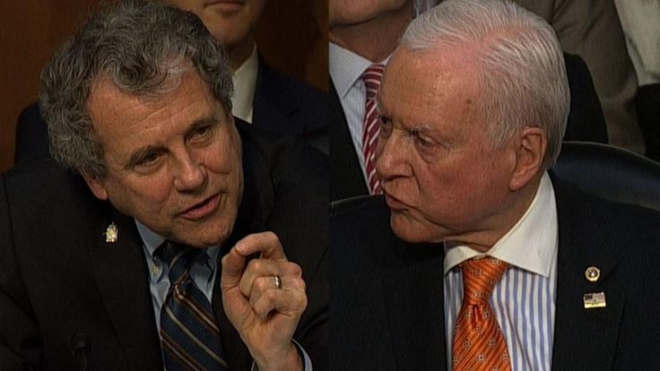 Sen. Orrin Hatch (R-UT) and Sen. Sherrod Brown (D-OH) got into a shouting match over the GOP tax bill during a committee meeting.