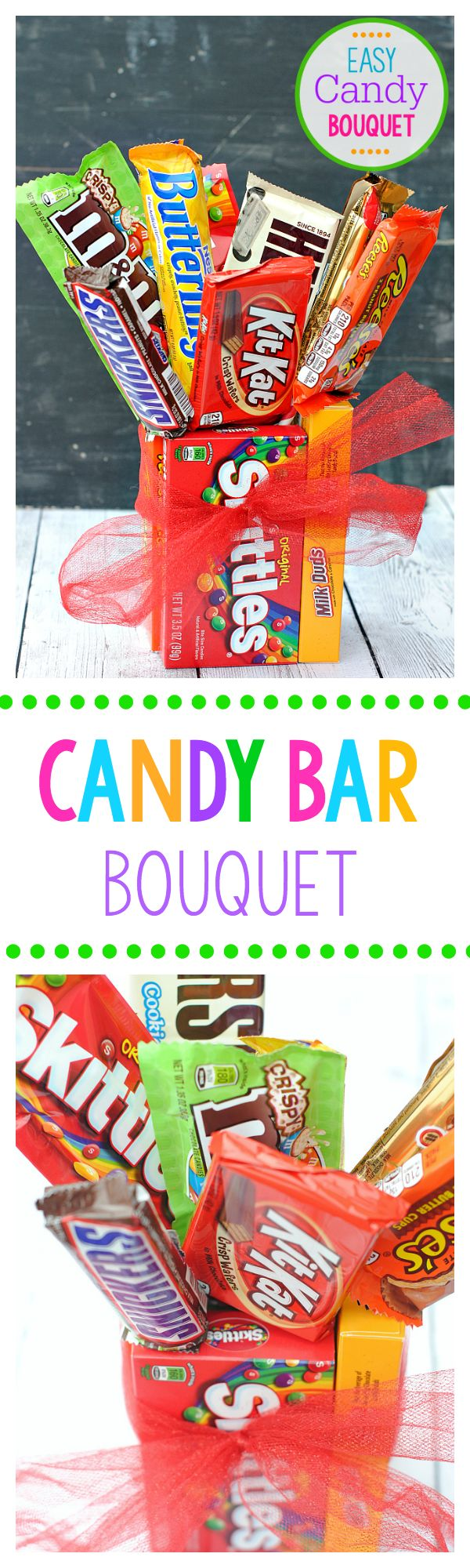 Make a Cute Candy Bar Bouquet for Birthdays or Special Occasions
