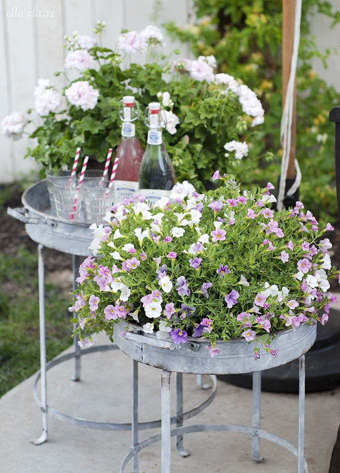 Galvanised Garden Containers